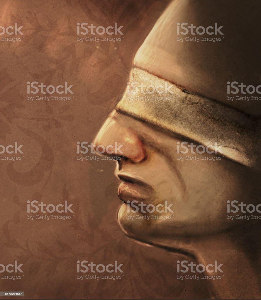 Blindfolded vector art illustration