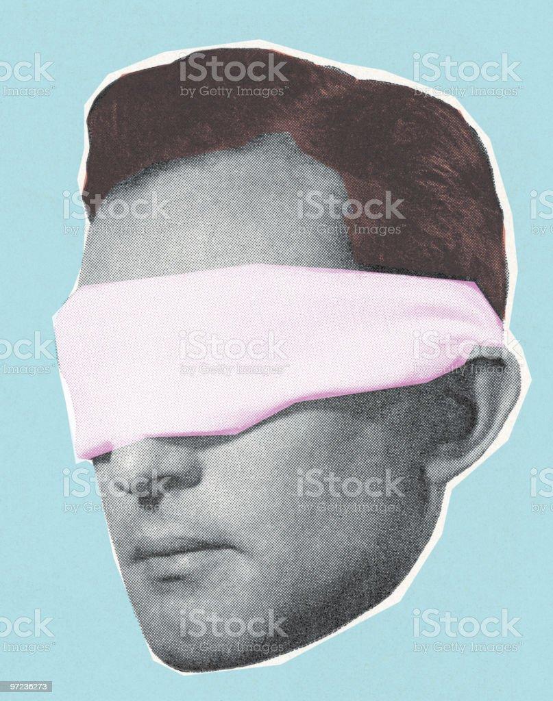 Blindfolded man royalty-free stock vector art