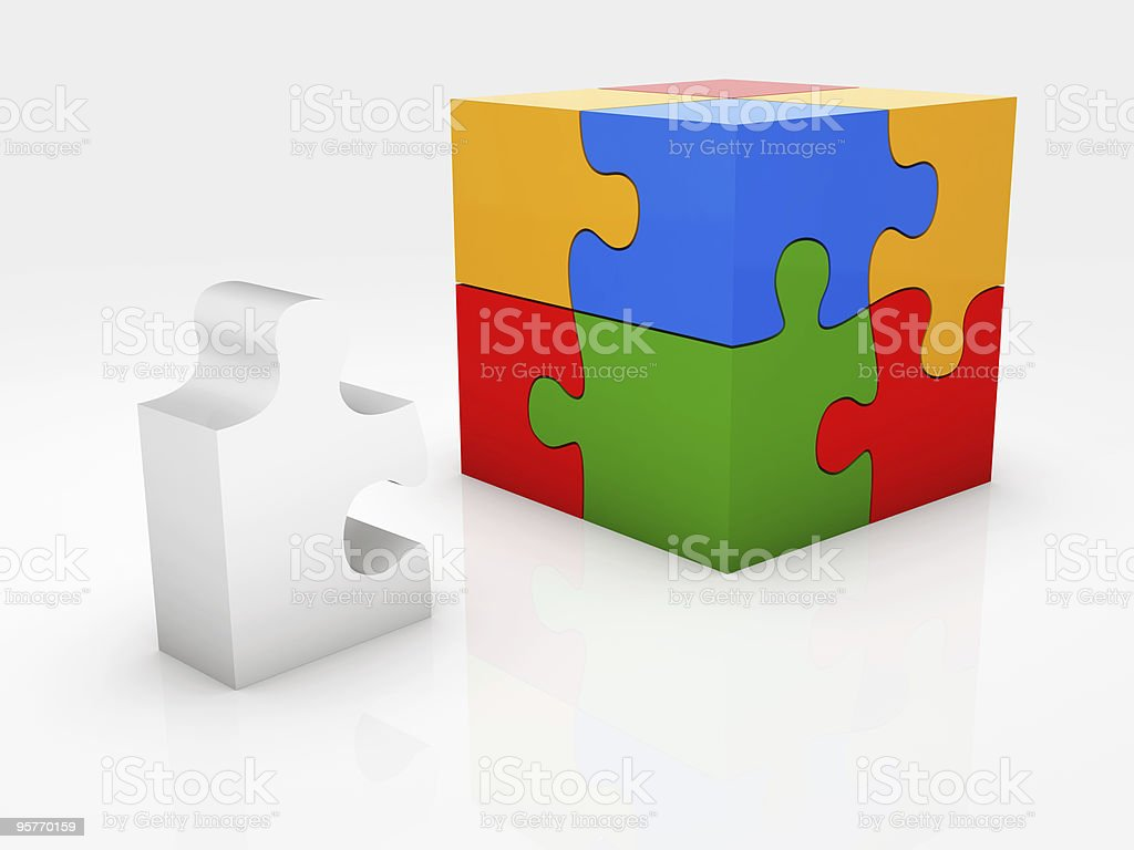 Block Puzzle vector art illustration