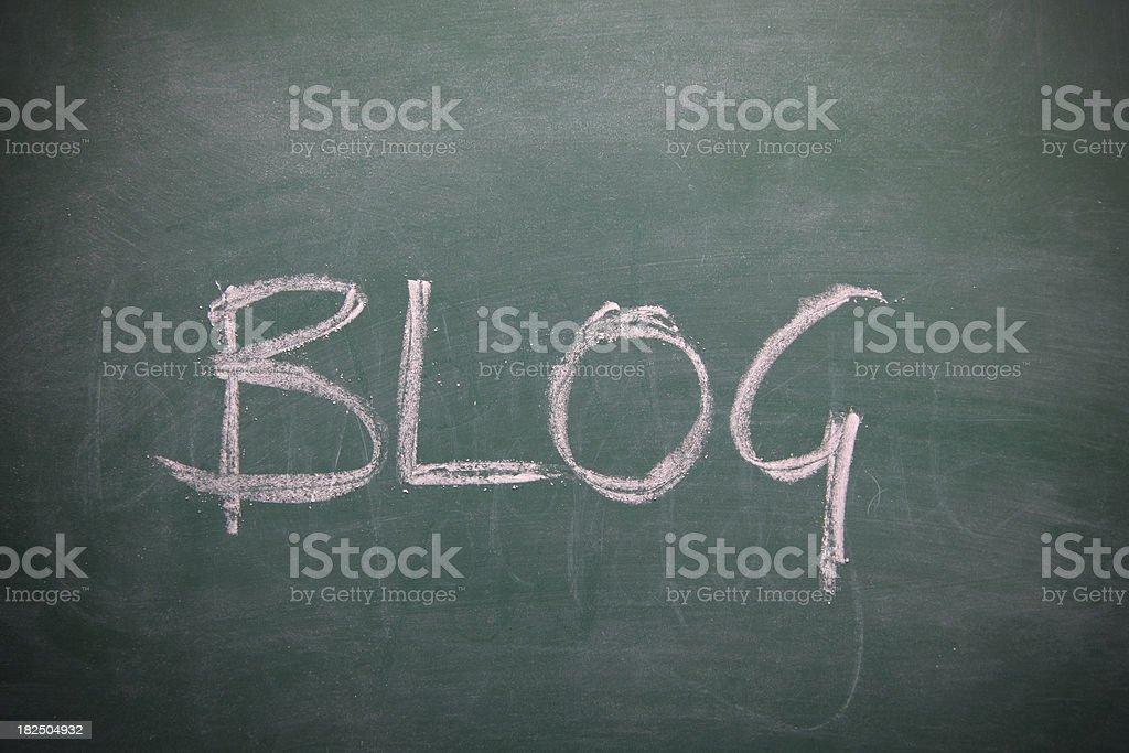 Blog written on a chalkboard royalty-free stock vector art