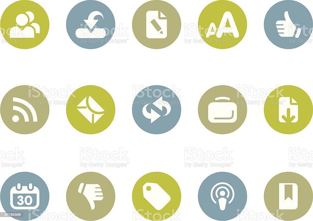 Blogging + Internet icons royalty-free stock vector art