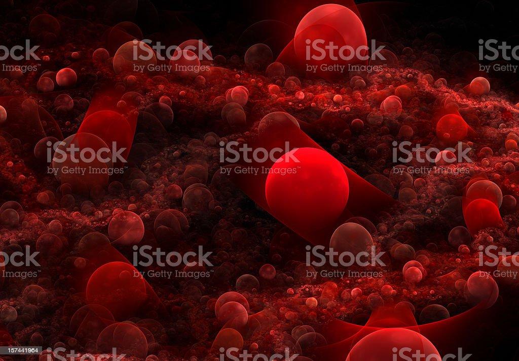 blood cells vector art illustration