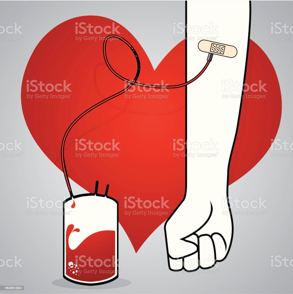 Blood donation royalty-free stock vector art