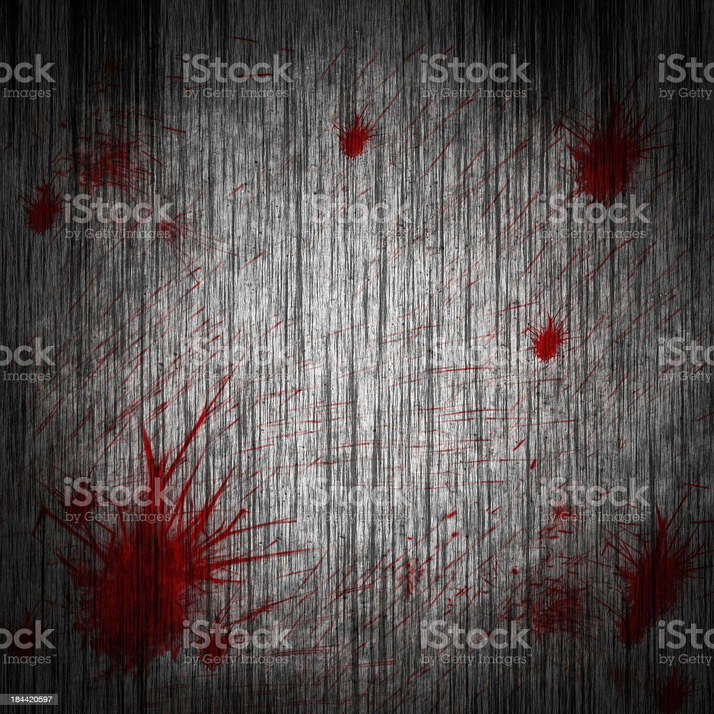 blood on a wooden wall royalty-free stock vector art