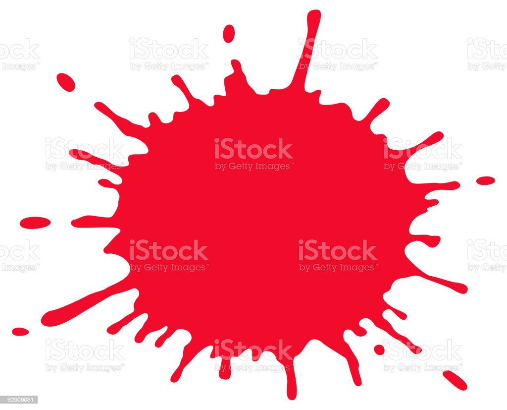 Blood Splatter (Vector) vector art illustration