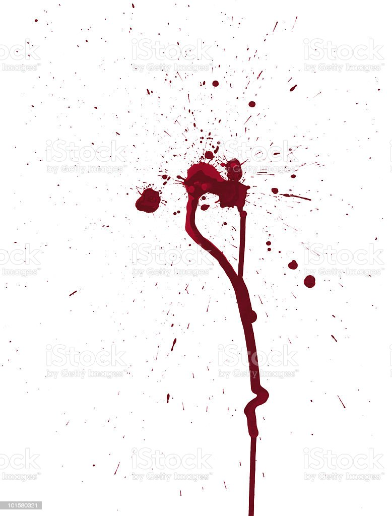 Blood Splatters royalty-free stock vector art