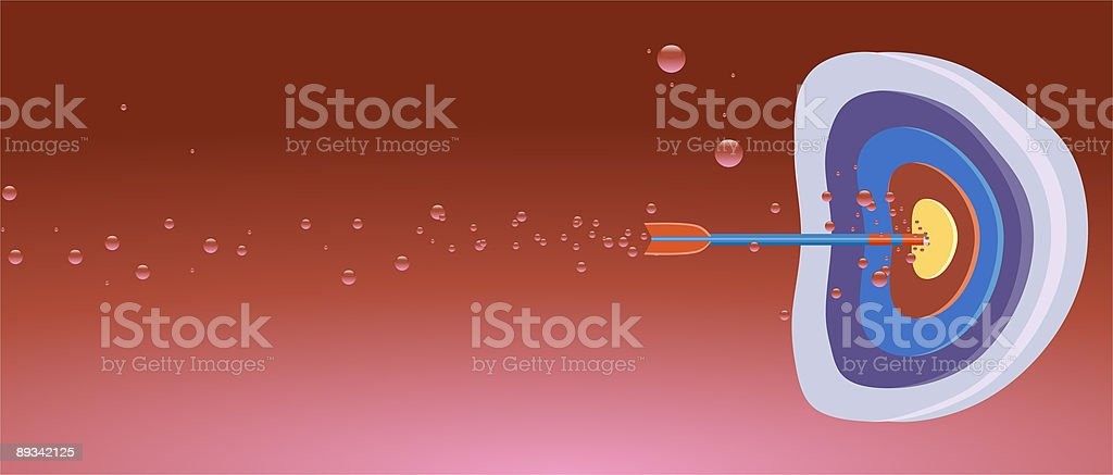 Blood Target vector art illustration