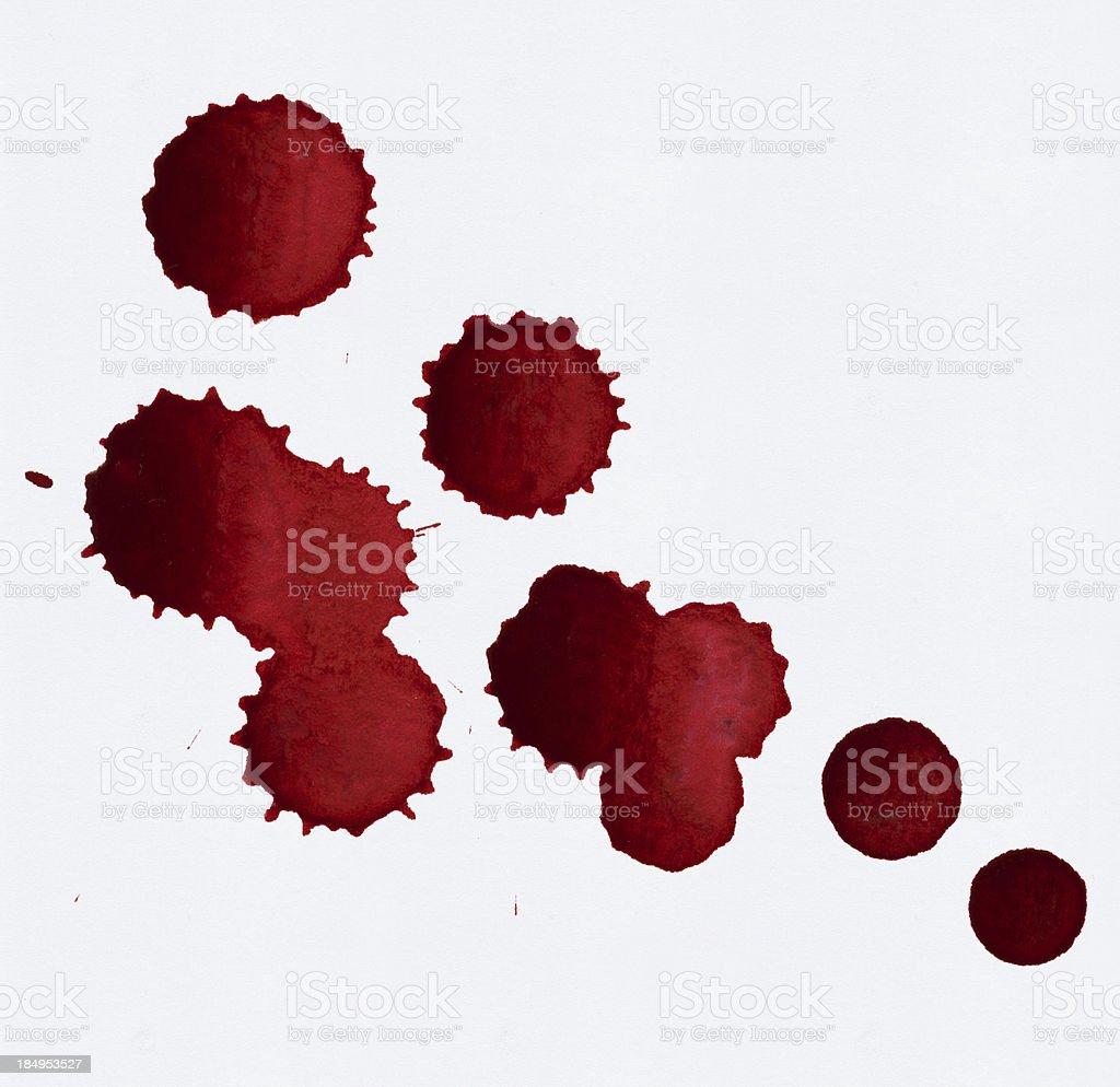 Bloody Red Blots vector art illustration