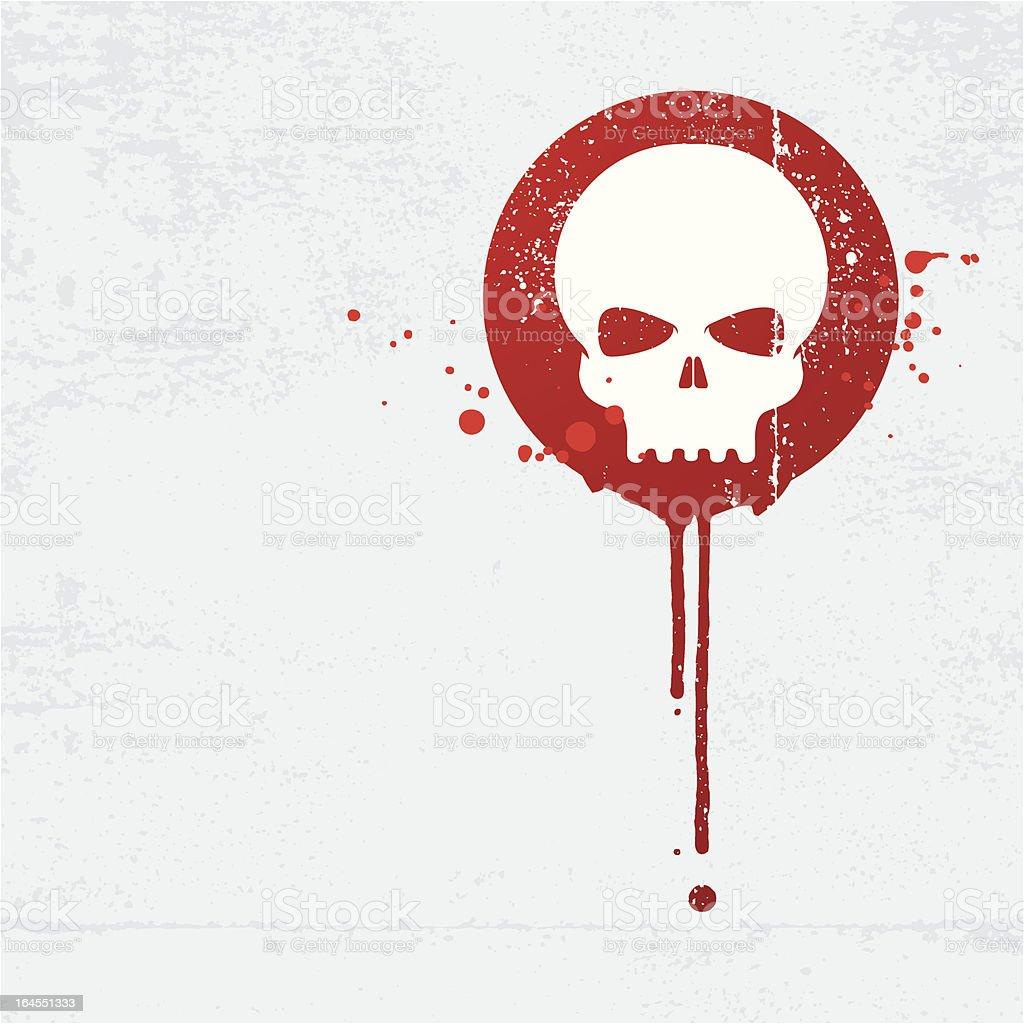 Bloody skull graffiti vector art illustration