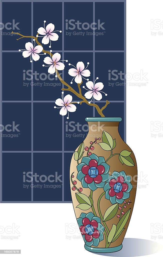Blossom in a vase. royalty-free stock vector art