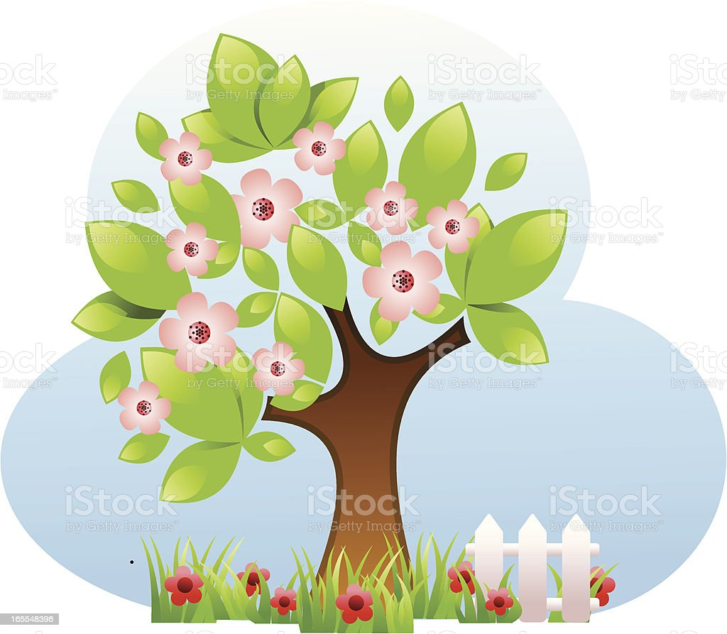 Blossom tree royalty-free stock vector art