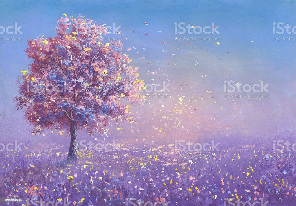 Blossoming vector art illustration