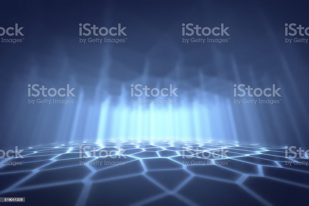 blue abstract futuristic background stock photo