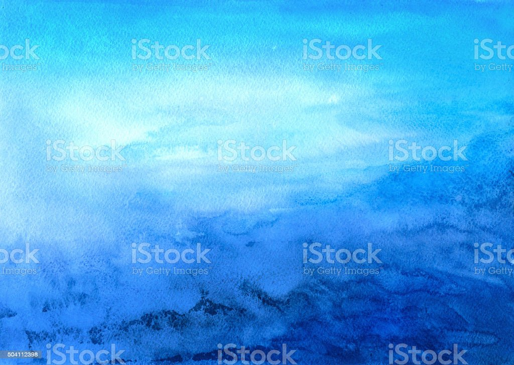 Blue abstract watercolor landscape vector art illustration