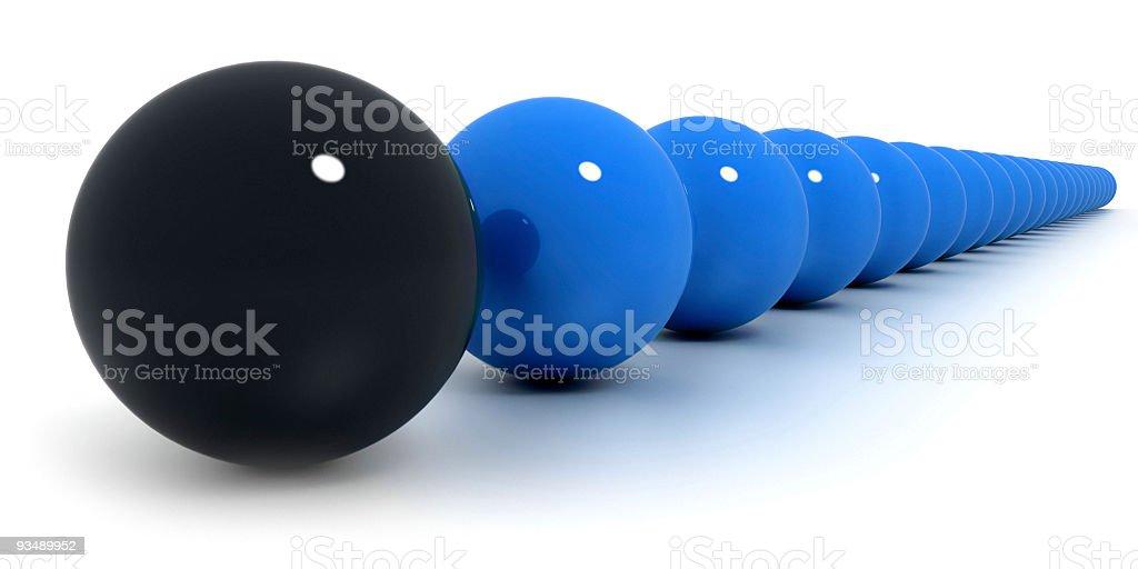 Blue and black billiard balls arrangement vector art illustration