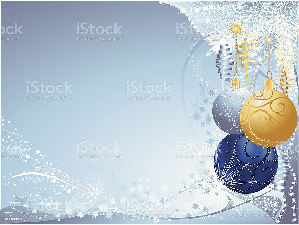 blue and gold christmas royalty-free stock vector art
