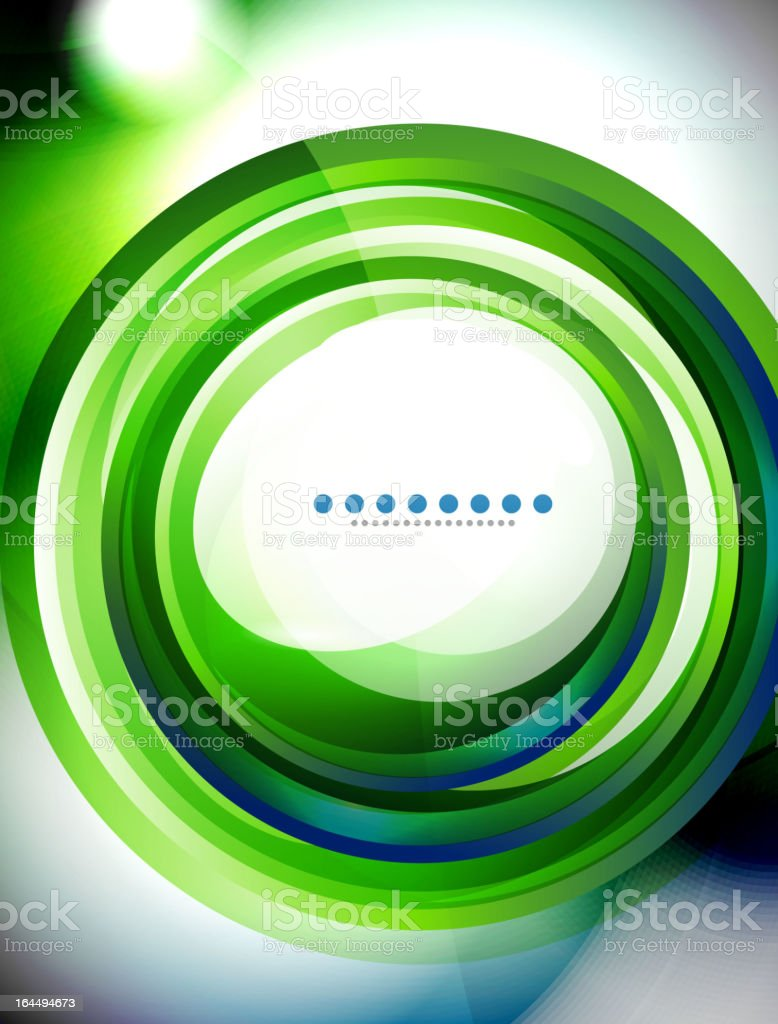 Blue and green swirl background royalty-free stock vector art