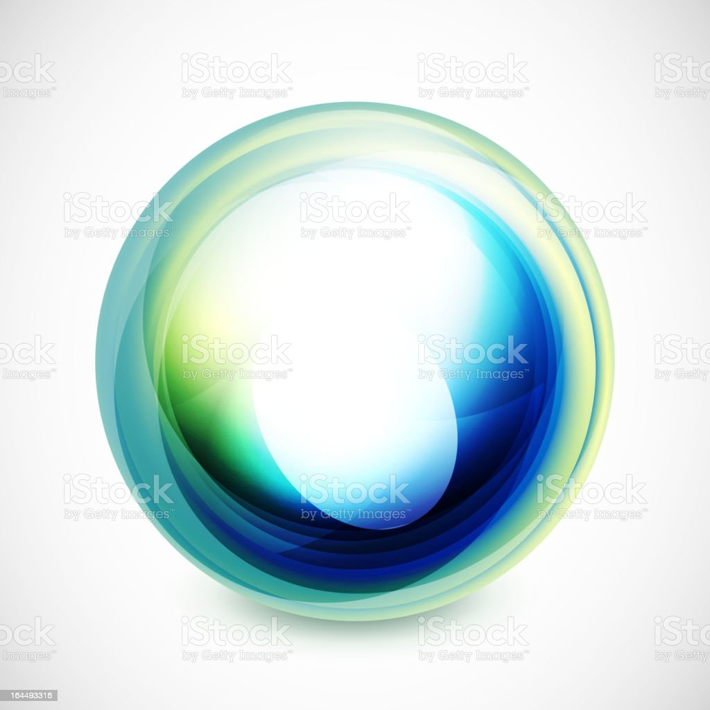 Blue and green vector bubble. royalty-free stock vector art