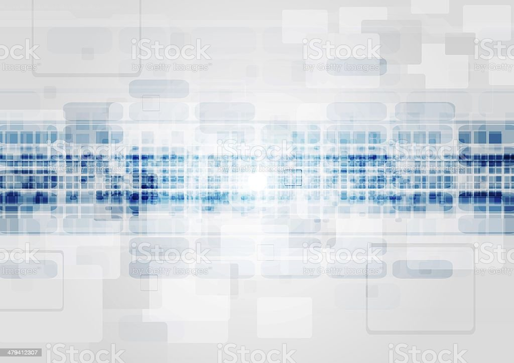 Blue and grey tech design vector art illustration
