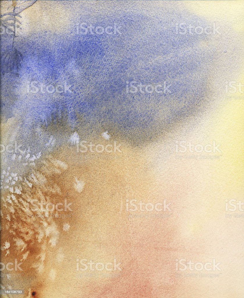 blue and Pink Watercolor Wash vector art illustration