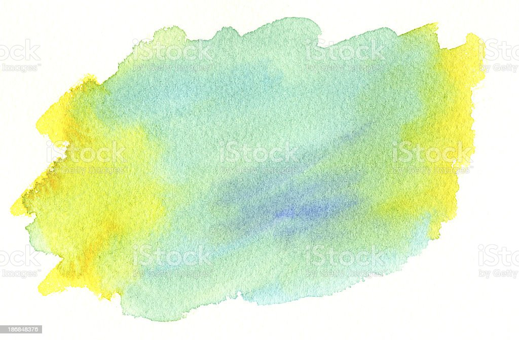 Blue and Yellow Wash royalty-free stock vector art