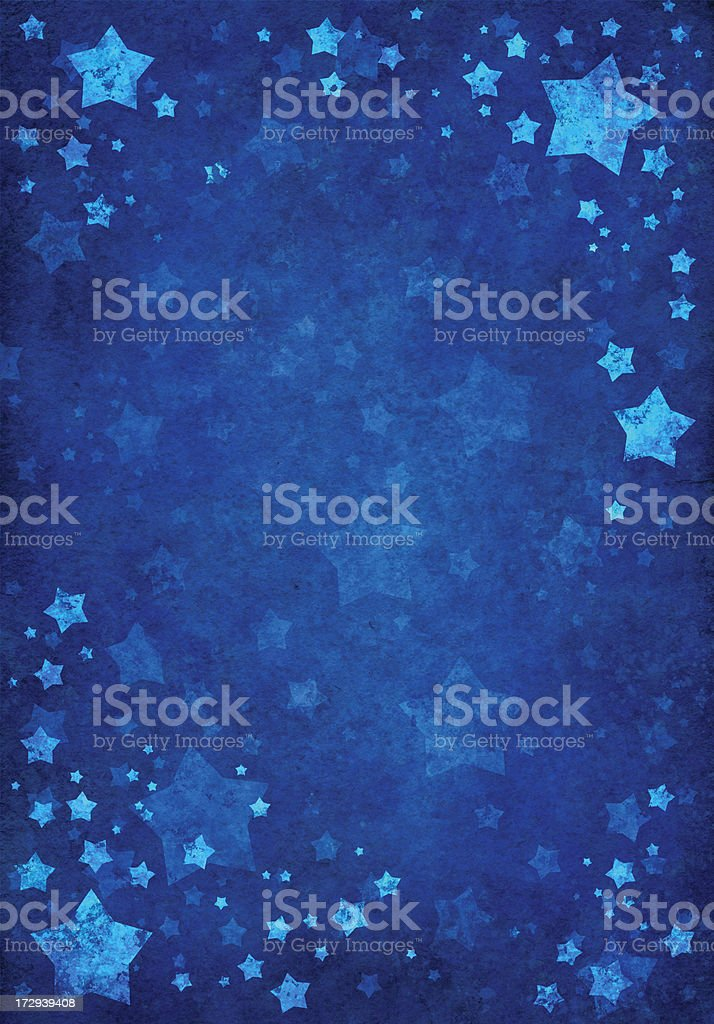 blue background with grungy  stars royalty-free stock vector art