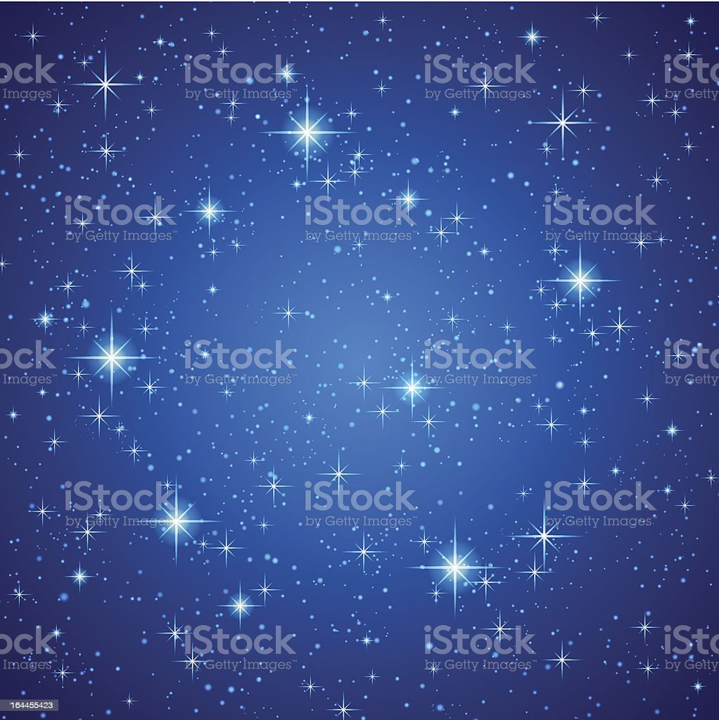Blue background with stars vector art illustration