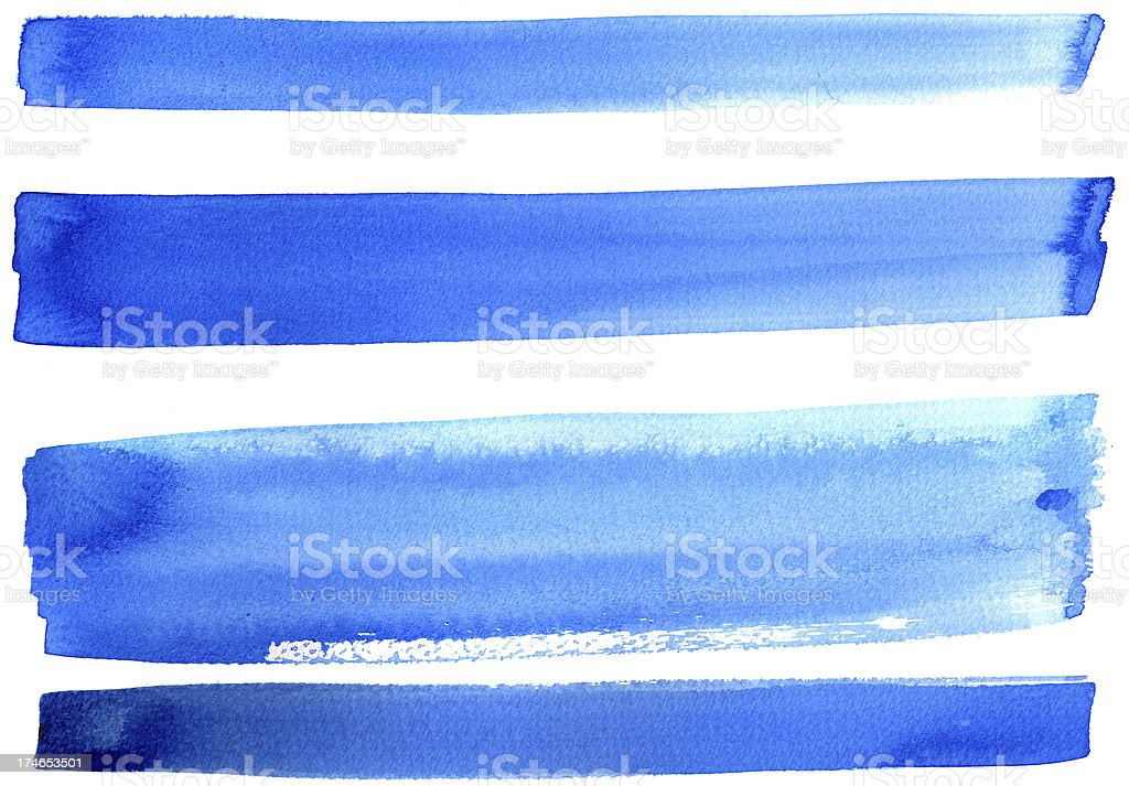 Blue banners royalty-free stock vector art