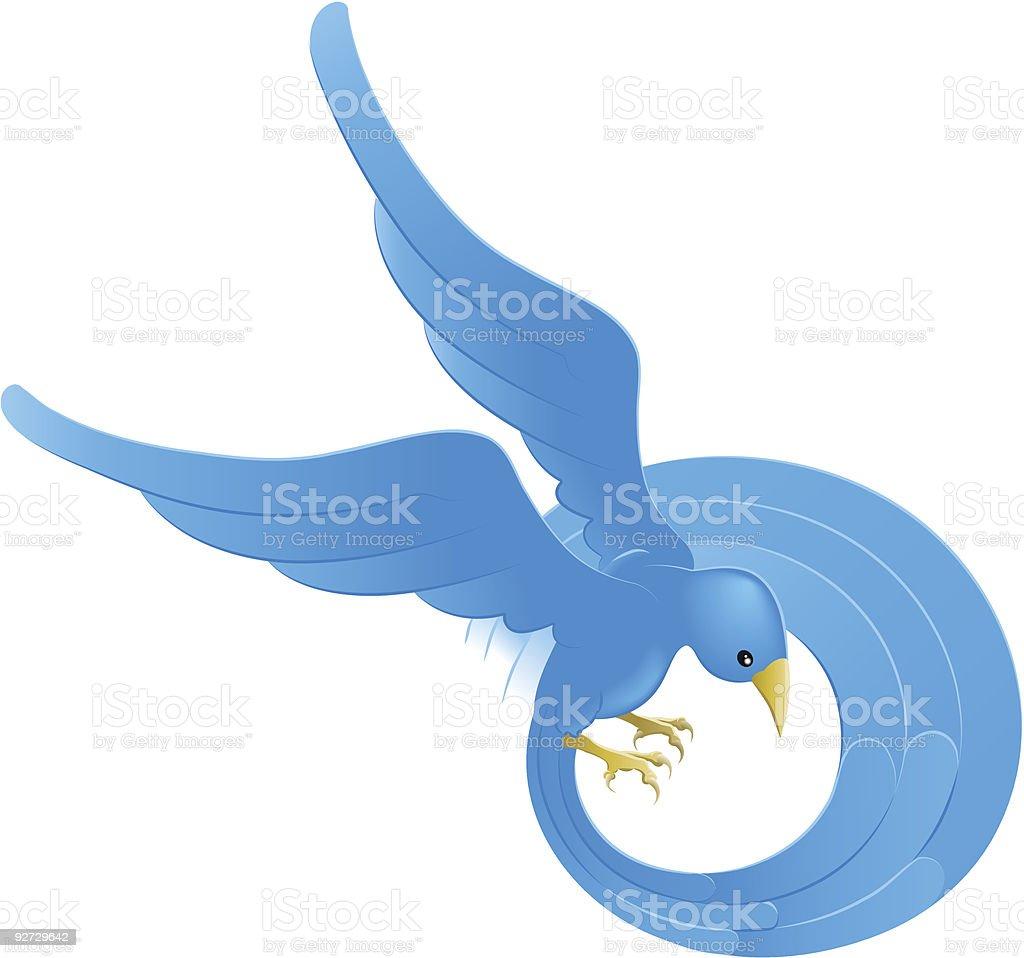 Blue bird icon illustration royalty-free stock vector art