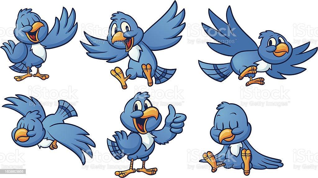 Blue birds royalty-free stock vector art