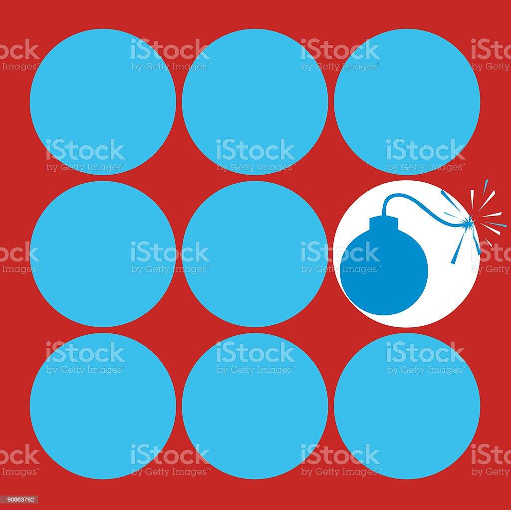 Blue bomb royalty-free stock vector art
