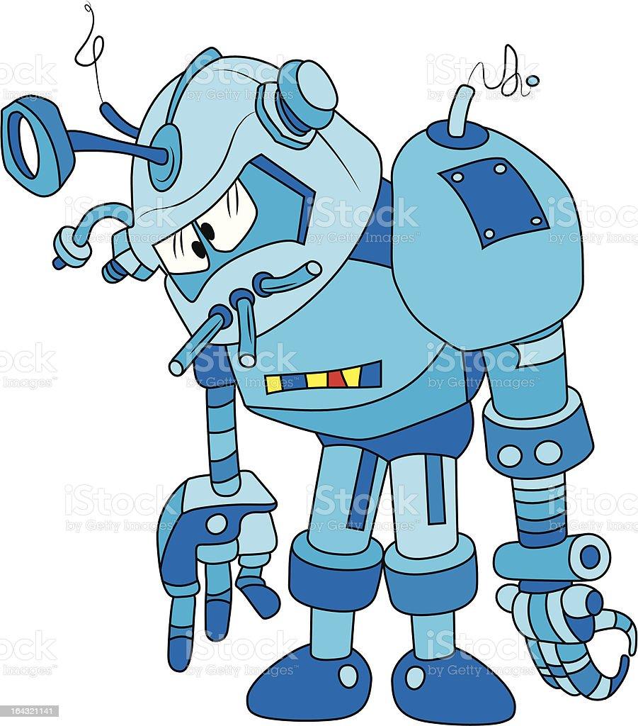 Blue bot vector art illustration