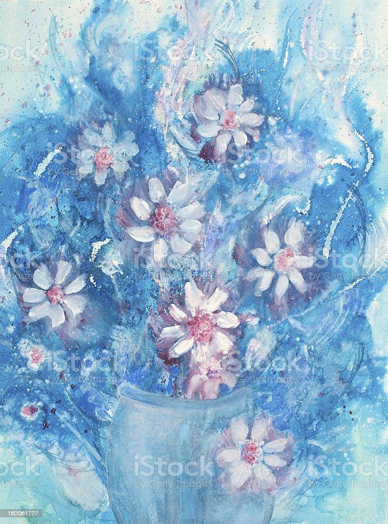 Bouquet azul illustracion libre de derechos libre de derechos