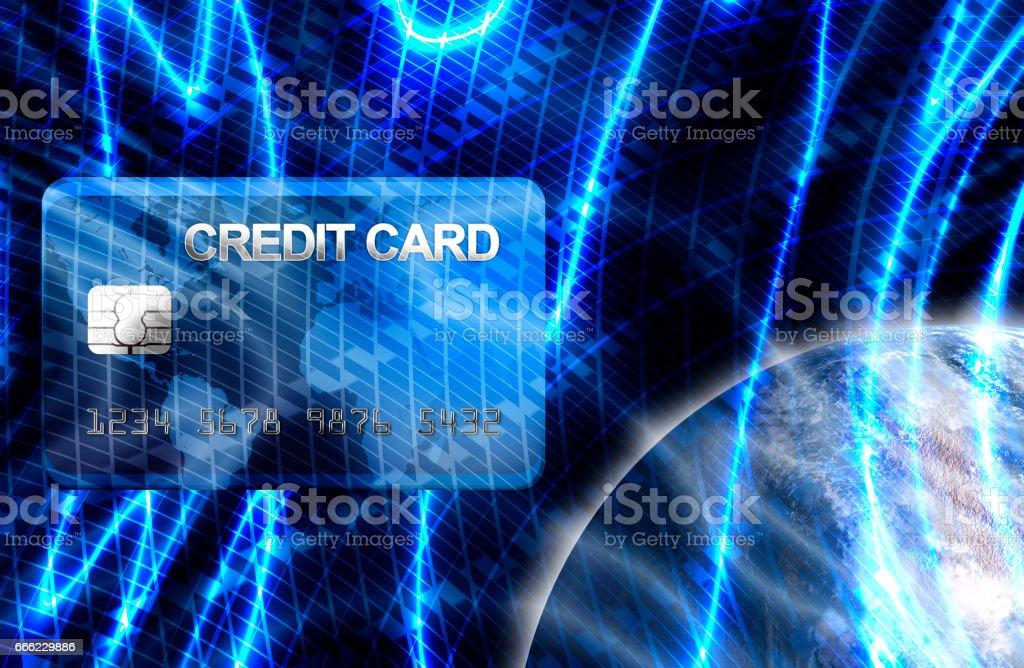 Blue business finance background vector art illustration