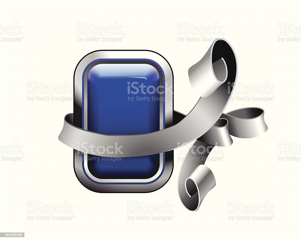 blue button royalty-free stock vector art