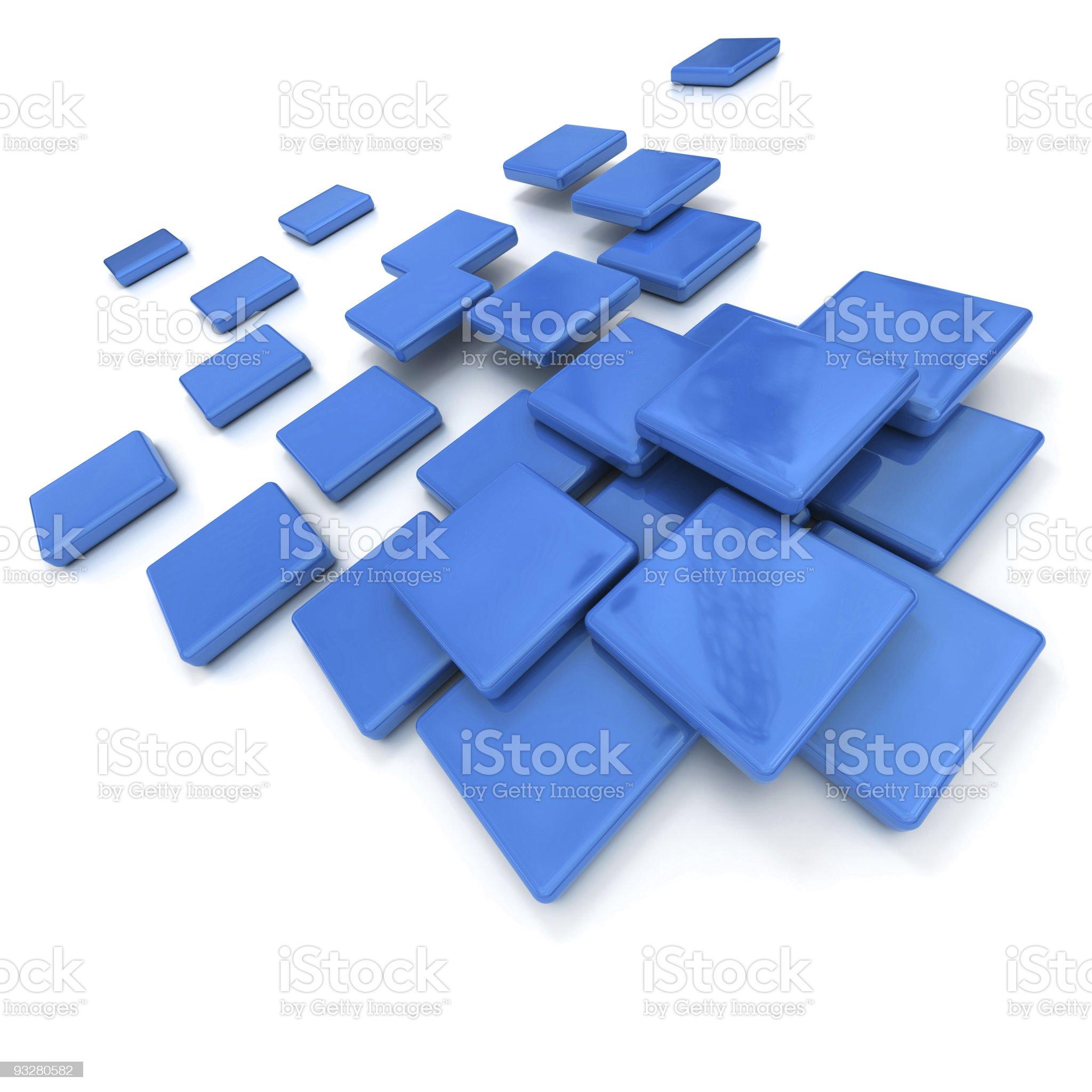 Blue ceramic tiles royalty-free stock vector art