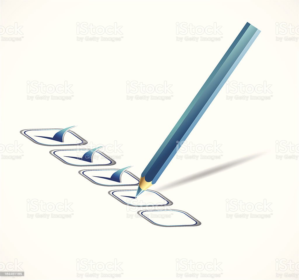 Blue check list. Vector illustration royalty-free stock vector art