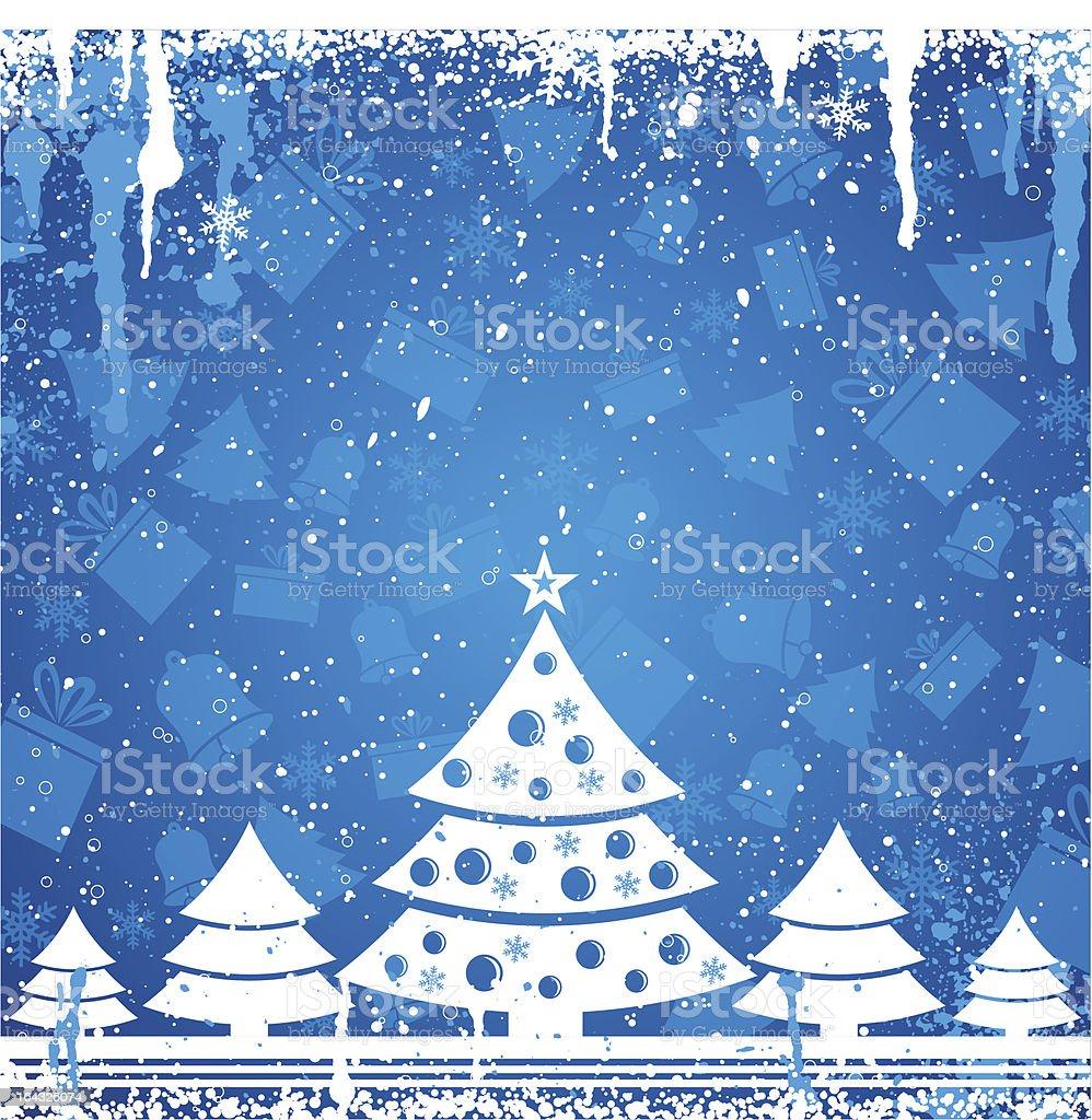 blue christmas card royalty-free stock vector art