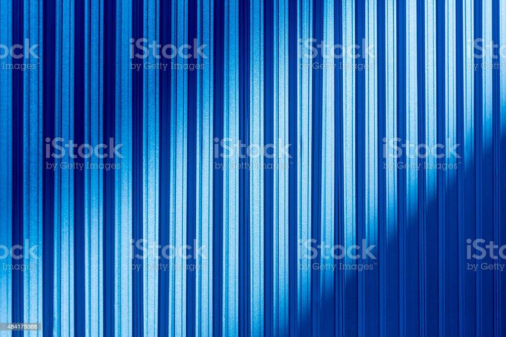Blue color corrugated metal sheet vector art illustration