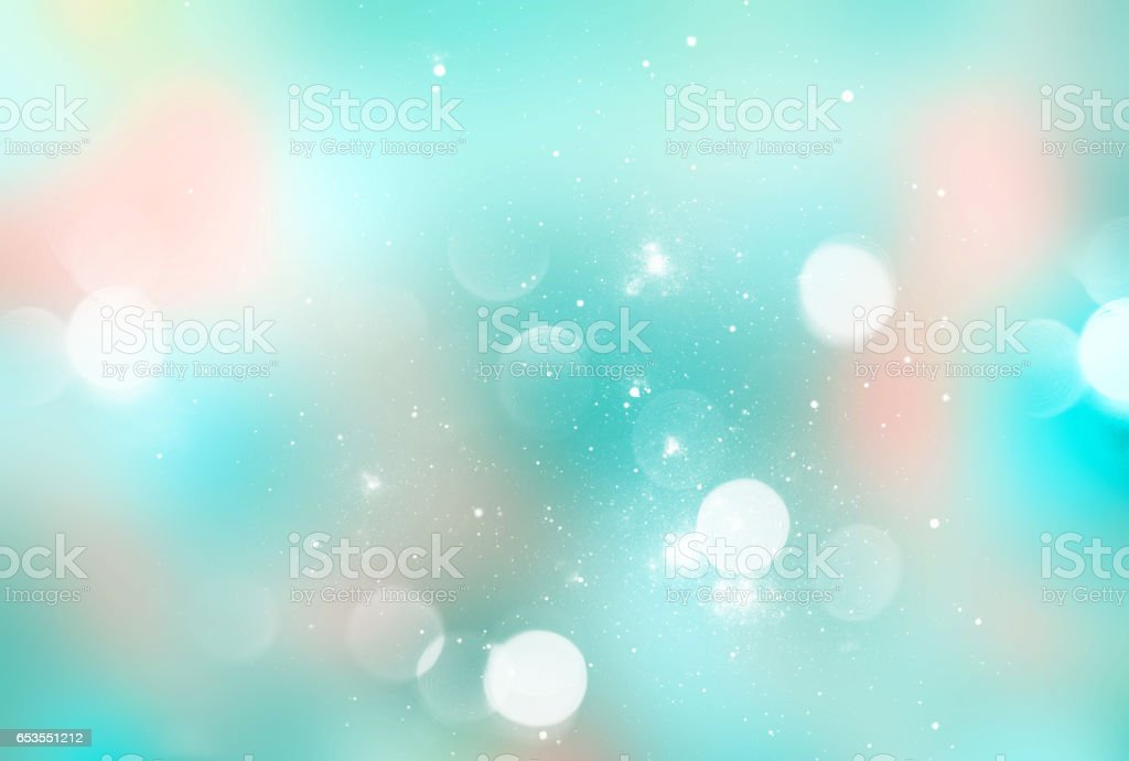 Blue cyan blurred magic soft background. vector art illustration