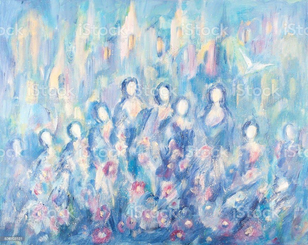 Azul de baile illustracion libre de derechos libre de derechos