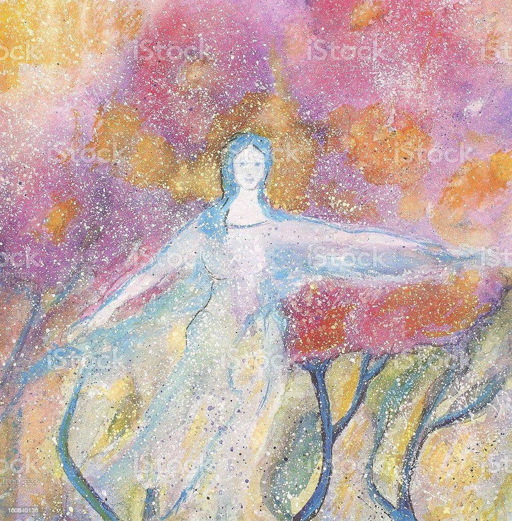 Bailarín azul illustracion libre de derechos libre de derechos