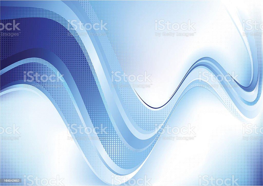 Blue dotted composition. vector art illustration