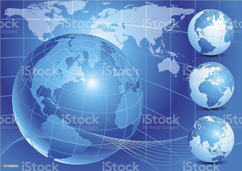 Blue earth royalty-free stock vector art