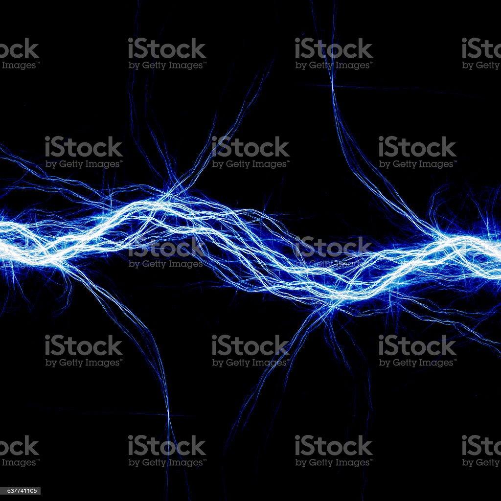 Blue electric lighting vector art illustration