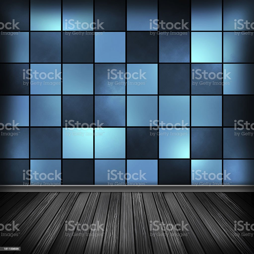 Blue empty room, interior with wallpaper. High resolution textur royalty-free stock vector art