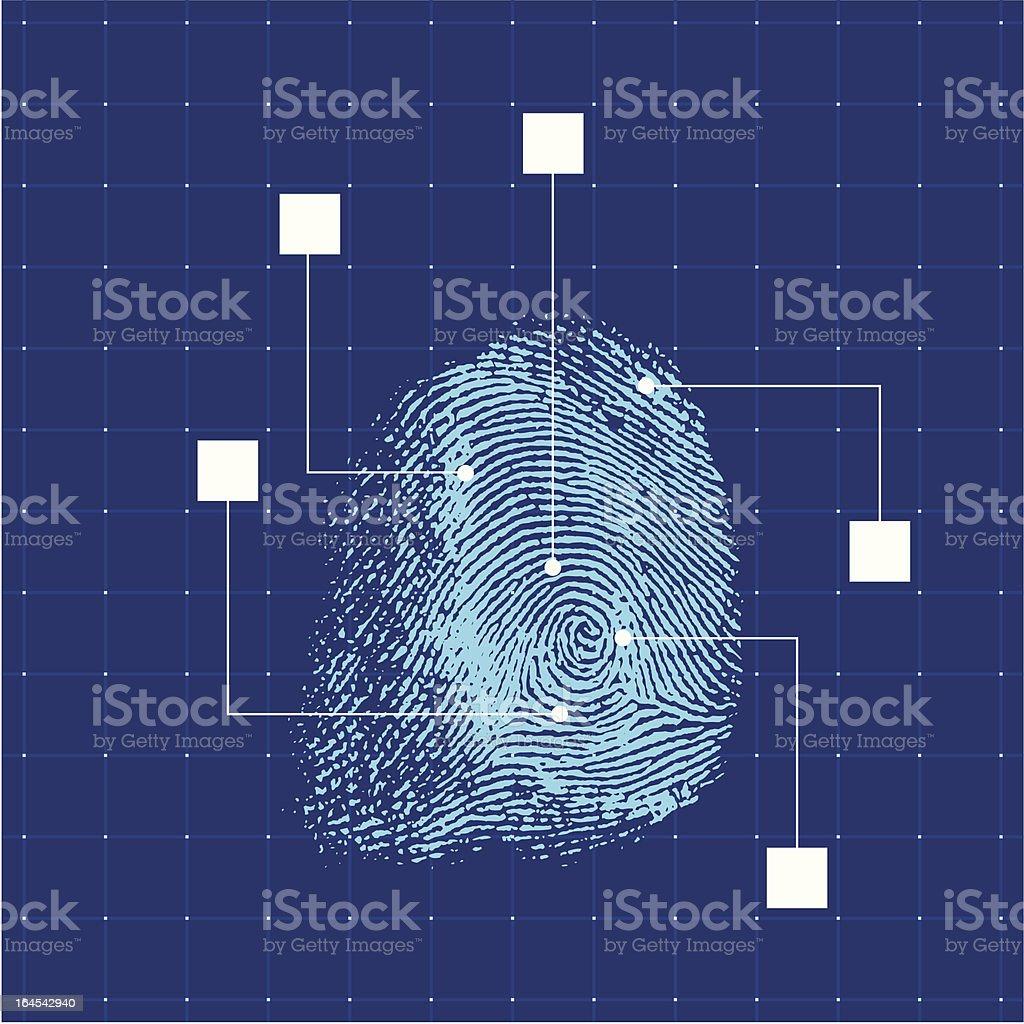 Blue finger print royalty-free stock vector art