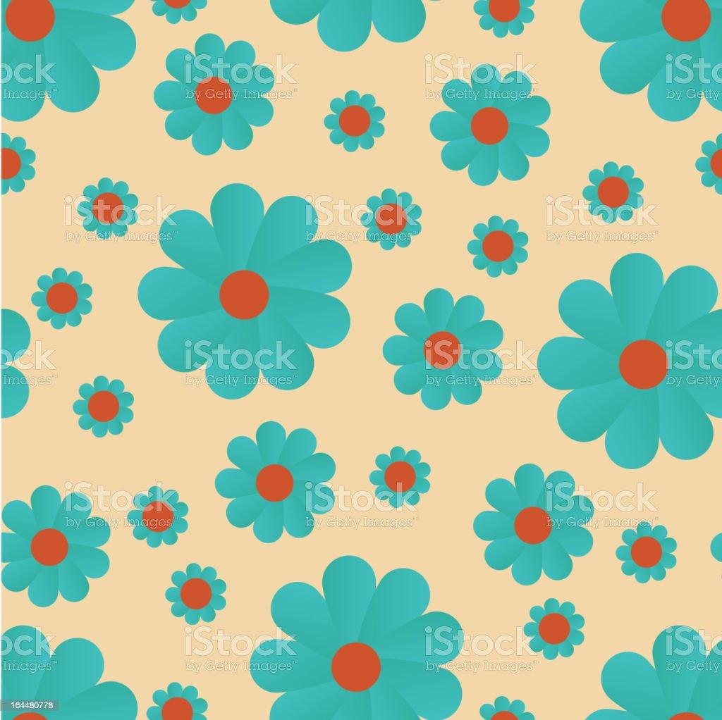 blue flowers, seamless pattern royalty-free stock vector art