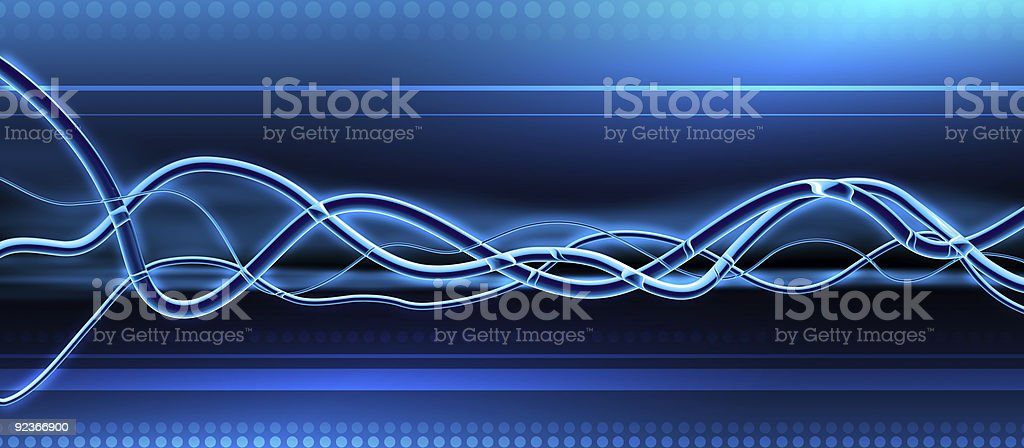 Blue Glass Waveforms - DJ Background royalty-free stock vector art