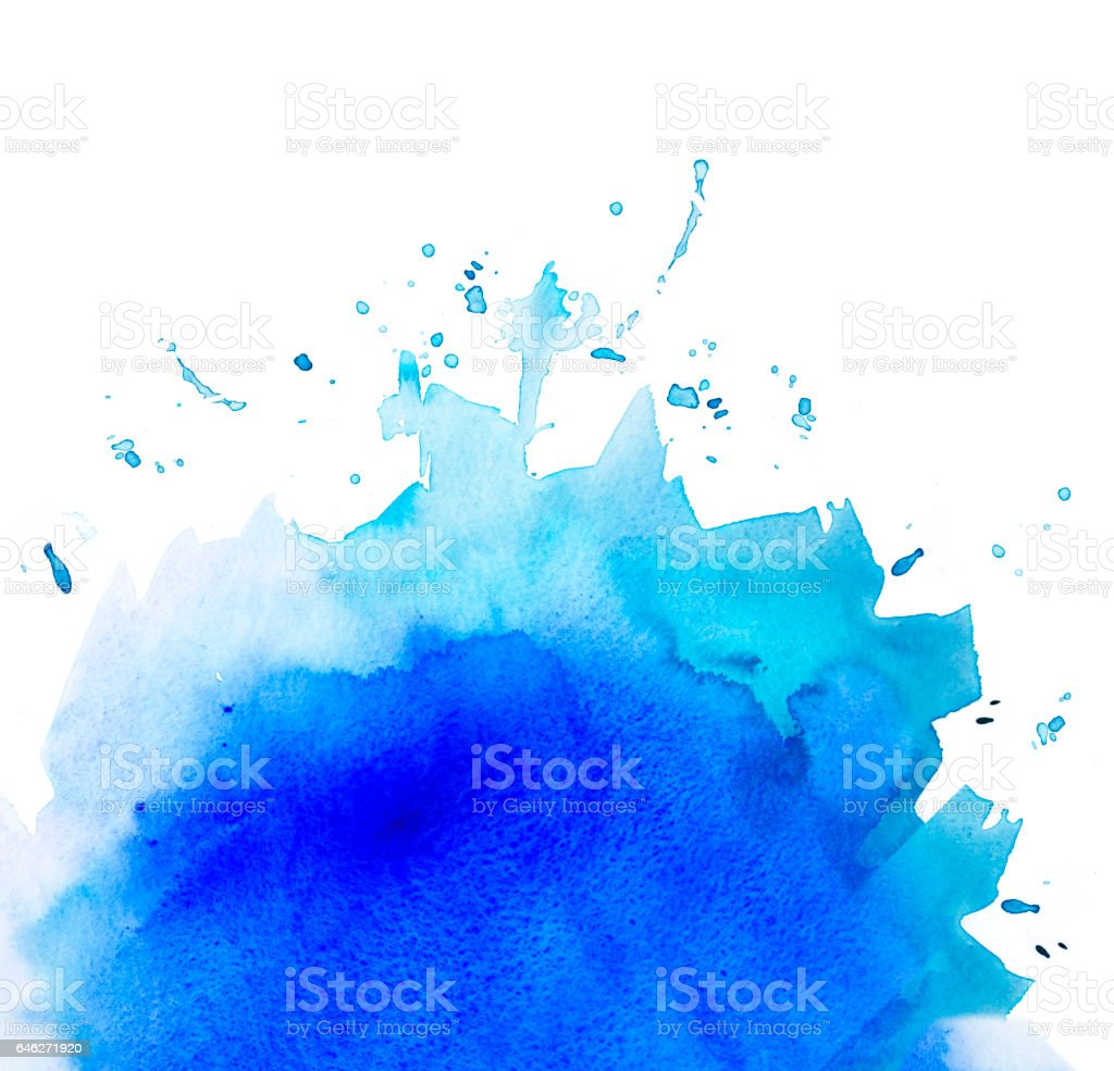 Blue graded watercolor background isolated vector art illustration